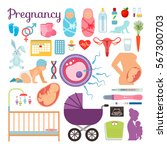 pregnancy  birth and newborn... | Shutterstock .eps vector #567300703