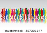 group of people. crowd of... | Shutterstock .eps vector #567301147