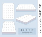 white mattress vector... | Shutterstock .eps vector #567301633