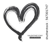 Hand Drawn Calligraphy Heart...