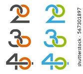 20 30 40 anniversary number... | Shutterstock .eps vector #567301897