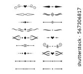 Collection Of Vector Dividers...