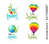 vector set of symbols and... | Shutterstock .eps vector #567308887
