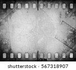 grunge scratched film strip...   Shutterstock . vector #567318907