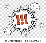 comic speech bubbles with... | Shutterstock .eps vector #567319687