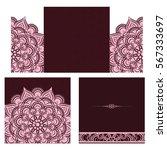 wedding invitation or card .... | Shutterstock .eps vector #567333697