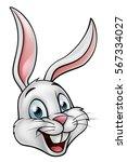 a cartoon white rabbit or... | Shutterstock .eps vector #567334027