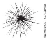 crime circle break crystal pane ... | Shutterstock .eps vector #567360403