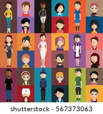people avatar   with full body... | Shutterstock .eps vector #567373063