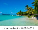 beach on the tropical island.... | Shutterstock . vector #567374617