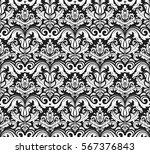 seamless classic vector black... | Shutterstock .eps vector #567376843
