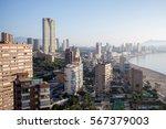 spain  top view of the benidorm | Shutterstock . vector #567379003