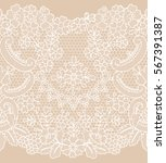 vertical seamless floral lace... | Shutterstock .eps vector #567391387