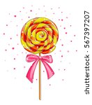 colorful lollipop candy... | Shutterstock .eps vector #567397207