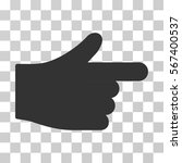 index hand vector pictograph....