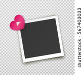 realistic square photo frame... | Shutterstock .eps vector #567403033