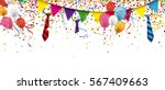 header with confetti  festoons  ... | Shutterstock .eps vector #567409663