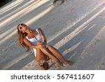 summer vacation sexy joyful...   Shutterstock . vector #567411607