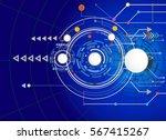 vector illustration hi tech... | Shutterstock .eps vector #567415267