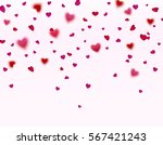 pink and red hearts confetti... | Shutterstock .eps vector #567421243