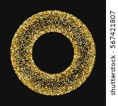 golden glitter made of hearts.... | Shutterstock .eps vector #567421807