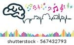vector illustration of brain... | Shutterstock .eps vector #567432793