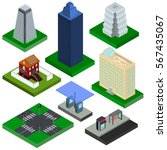 isometric elements for city ... | Shutterstock .eps vector #567435067