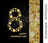 march 8. happy women's day... | Shutterstock .eps vector #567441253