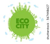 green eco city   abstract... | Shutterstock .eps vector #567448627