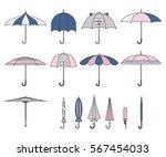 set of vector cute multicolor... | Shutterstock .eps vector #567454033