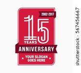 15th anniversary logo. vector... | Shutterstock .eps vector #567456667
