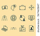 set of 12 business management... | Shutterstock .eps vector #567465847