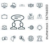 set of 16 business management... | Shutterstock .eps vector #567466003