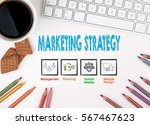 marketing strategy. computer... | Shutterstock . vector #567467623