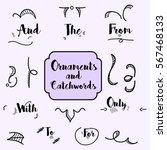 collection of hand drawn... | Shutterstock .eps vector #567468133