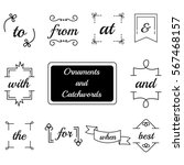 collection of hand drawn... | Shutterstock .eps vector #567468157