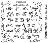 collection of hand drawn... | Shutterstock .eps vector #567468163