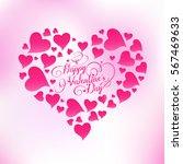 valentines day lettering...   Shutterstock .eps vector #567469633