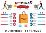 shopping infographics elements. ... | Shutterstock .eps vector #567475213