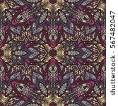 ornate floral seamless texture  ... | Shutterstock .eps vector #567482047