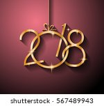 2018 happy new year background... | Shutterstock .eps vector #567489943