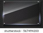 elegant vector metallic mesh... | Shutterstock .eps vector #567494203