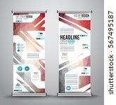 advertisement roll up business... | Shutterstock .eps vector #567495187