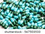 antibiotics pills medicine on