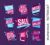 sale isolated banners set. best ... | Shutterstock . vector #567506167