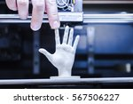 3d printing in progress | Shutterstock . vector #567506227