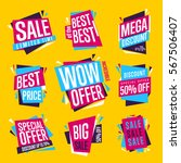 sale isolated banners set. best ... | Shutterstock . vector #567506407