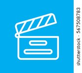 movie clapper icon illustration ... | Shutterstock .eps vector #567508783