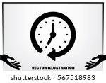 clock icon vector.   Shutterstock .eps vector #567518983