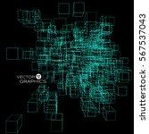 abstract technology vector... | Shutterstock .eps vector #567537043
